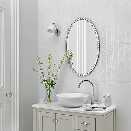 Laura Ashley White Collection - Ceramic Floor/Wall Tile