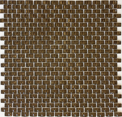 Poco Brick Dark Brown  | 12x12 inch | Glass | Mosaic | Code: MPCBR584