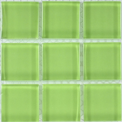 Glass Solid Grass Green  | 13x13 inch | Glass | Mosaic | Code: OPUS104