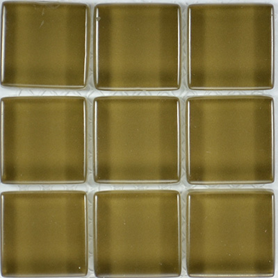 Glass Solid Olive  | 13x13 inch | Glass | Mosaic | Code: OPUS579