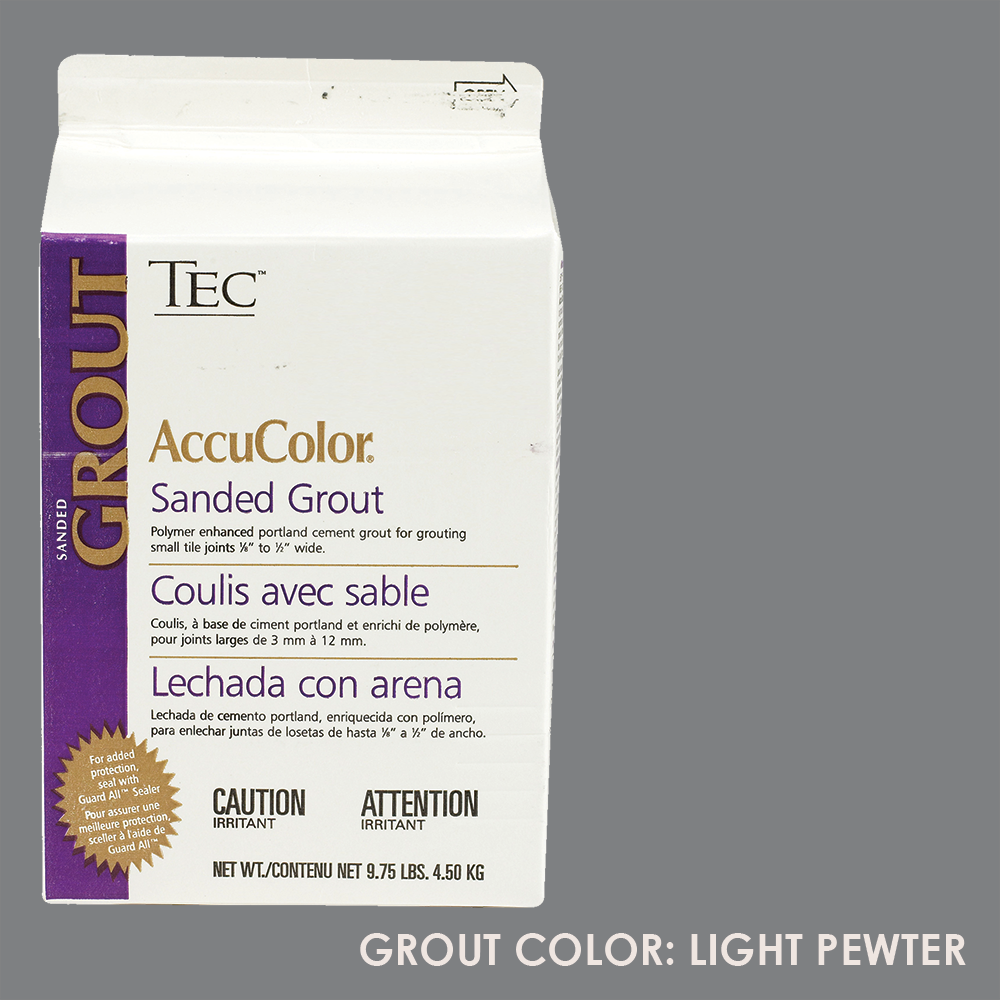 TEC Sanded Grout - Light Pewter | 9.75lb | Code: TA650927F10