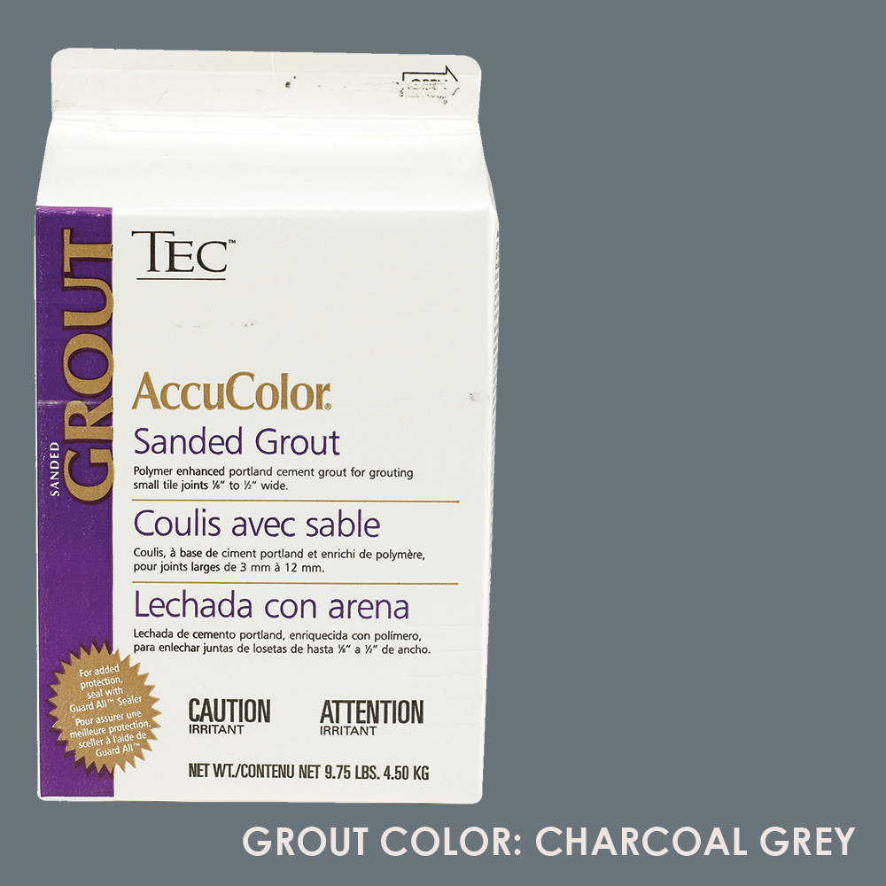 TEC Sanded Grout - Charcoal Grey | 9.75lb | Code: TA650929F10