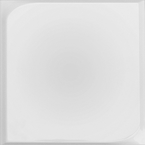 Chic Square White Relief Matte | 10x10 inch | Ceramic | Wall | Code: CHWHSQRM