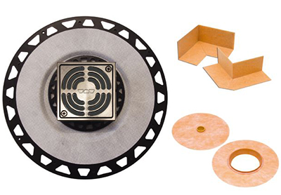 Schluter Kerdi-Drain Kit Brushed Nickel | Code: KD2ABSATGB