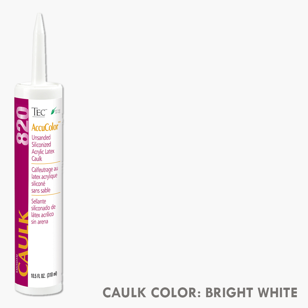 TEC Unsanded Caulking Bright White | 10.5oz | Code: TA820910