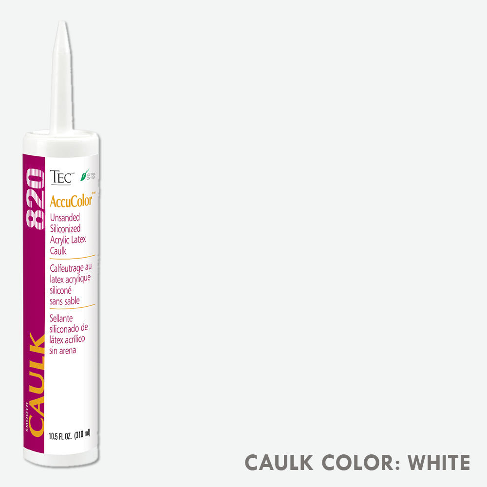 TEC Unsanded Caulking White | 10.5oz | Code: TA820931