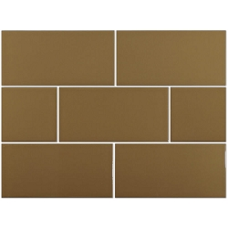 Ral Colour Brown Glossy | 4x8 inch | Ceramic | Wall | Code: 824033