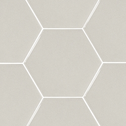 Hexatile Light Grey Glossy | 7x8 inch | Ceramic | Wall | Code: HE20711N