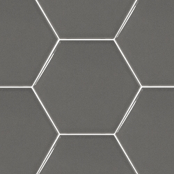 Hexatile Dark Grey Glossy | 7x8 inch | Ceramic | Wall | Code: HE20712N