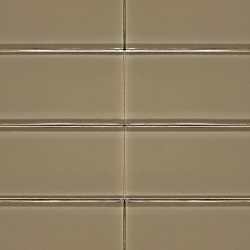 Glass Solid Light Taupe | 3x6 inch | Glass | Wall | Code: OPUS57836