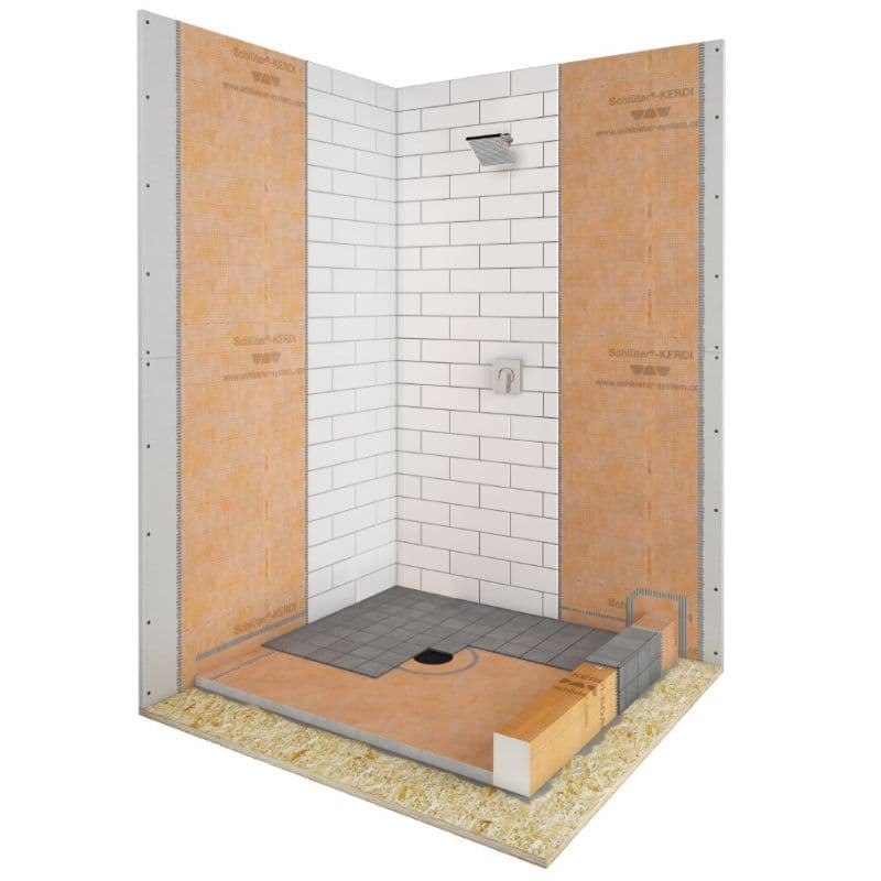 Schluter Kerdi Shower Kit 38x38 Inch No Drain Included Code