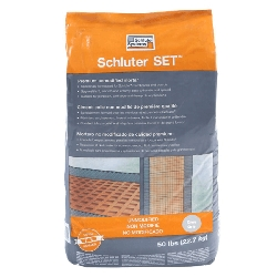 Schluter SET Premium Unmodified Thin-Set Mortar Grey | 50 lbs | Code: SET50G