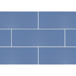 Ral Colour Dark Blue Mat | 4x12 inch | Ceramic - Wall Tile | Commercial | Code: K891335