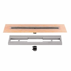 Schluter Kerdi-Line Channel Body (Center Outlet) | 39 inch | Code: KLV60E100