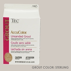 TEC Unsanded Grout - Sterling | 9.75lb | Code: TA620909W10