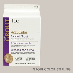 TEC Sanded Grout - Sterling | 9.75lb | Code: TA650909F10