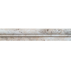 Travertine Latte Chair Rail Honed | 2x12 inch | Trim | Code: TRACR50