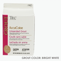 TEC Unsanded Grout - Bright White | 9.75lb | Code: TA620910W10