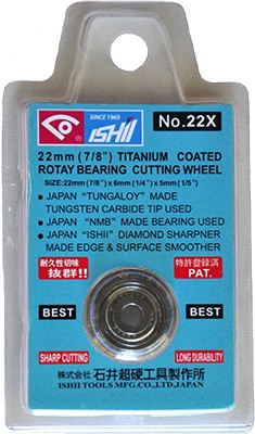Ishii Carbide Cutting Wheel 22mm | Code: 22X