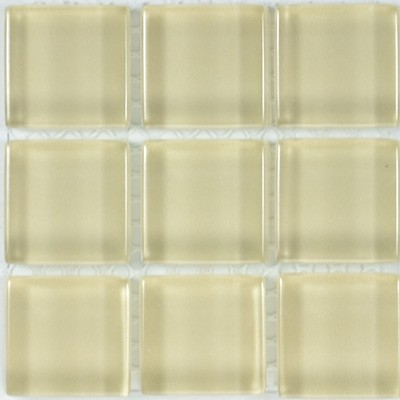 Glass Solid Warm Beige  | 13x13 inch | Glass | Mosaic | Code: OPUS577