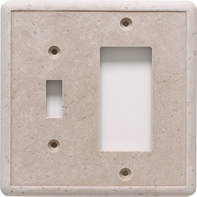 Questech Ceramic GFCI Combo Switch Plate - Beige | Code: SW10901