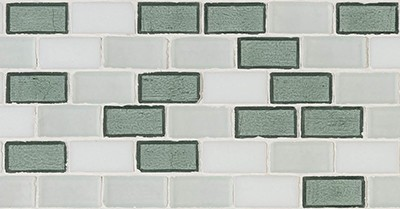 Glass Coast Blend  (Green/White) | 12x12 inch | Glass | Mosaic | Code: 12COASTXXB