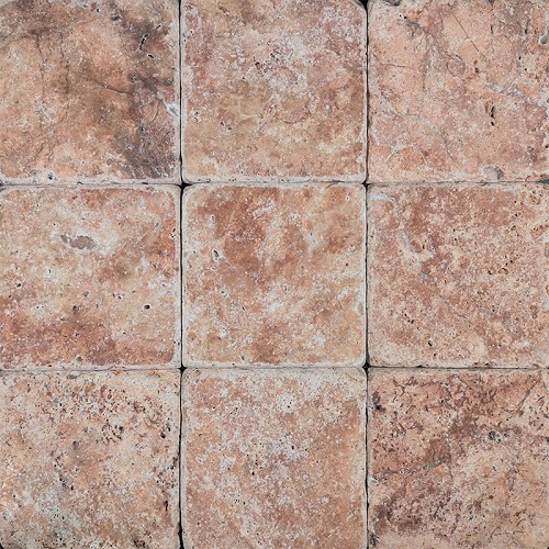 Tumbled Stone Arizona Red | 4x4 inch | Natural Stone | Code: ARRE4