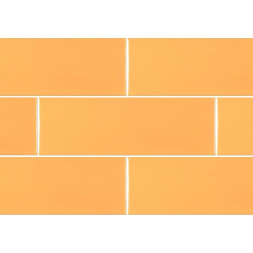Ral Colour Yellow Field Mat | 4x12 inch | Ceramic | Wall | Code: K841985