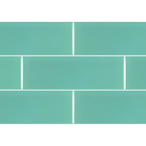 Ral Colour Turquoise Mat | 4x12 inch | Ceramic - Wall Tile | Commercial | Code: K867265