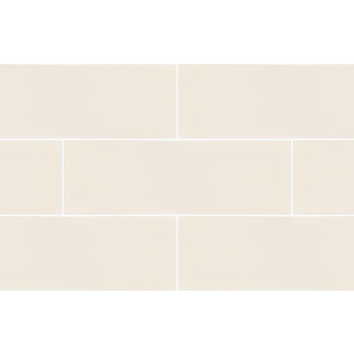 RAL Colour Bone Glossy | 4x12 inch | Ceramic - Wall Tile | Residential | Code: K944218