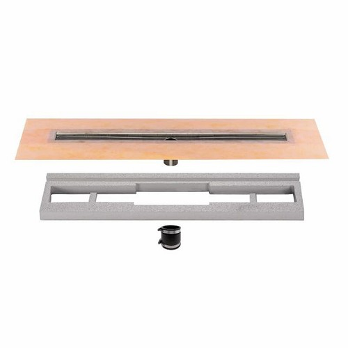 Schluter Kerdi-Line Channel Body (Center Outlet) | 66 inch | Code: KLV60E170