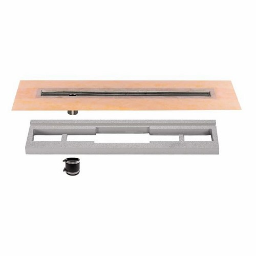 Schluter Kerdi-Line Channel Body (Off-Set Outlet) | 35 inch | Code: KLVO60E90