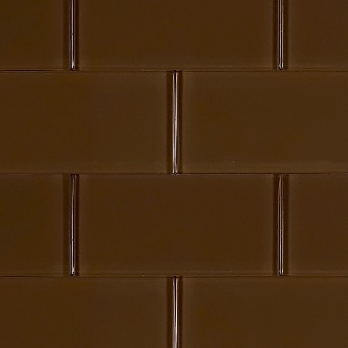 Glass Solid Soft Brown | 3x6 inch | Ceramic - Glass | Commercial | Code: OPUS58036