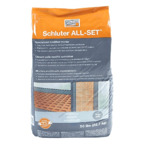 Schluter ALL-SET Specialized Modified Thin-Set Mortar Grey | 50 lbs | Code: SETA50G