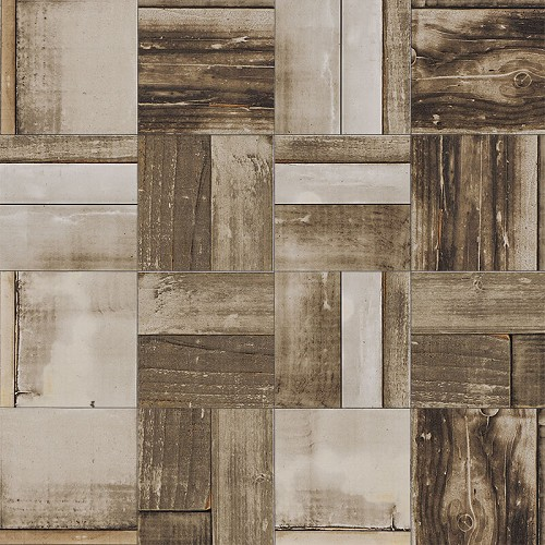 Urban Wood Burnt Natural | 6x6 inch | Digital Printed Porcelain | Residential | Code: UW158R